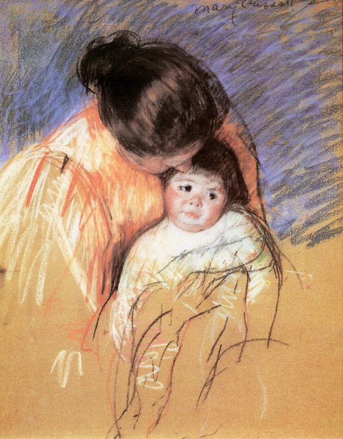 Art Prints of Sketch of a Mother Looking Down at Thomas by Mary Cassatt