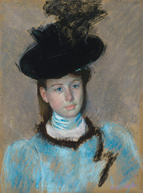 Art Prints of The Black Hat by Mary Cassatt