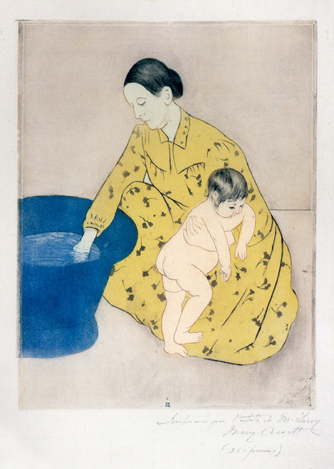 Art Prints of The Child's Bath, 1890 by Mary Cassatt