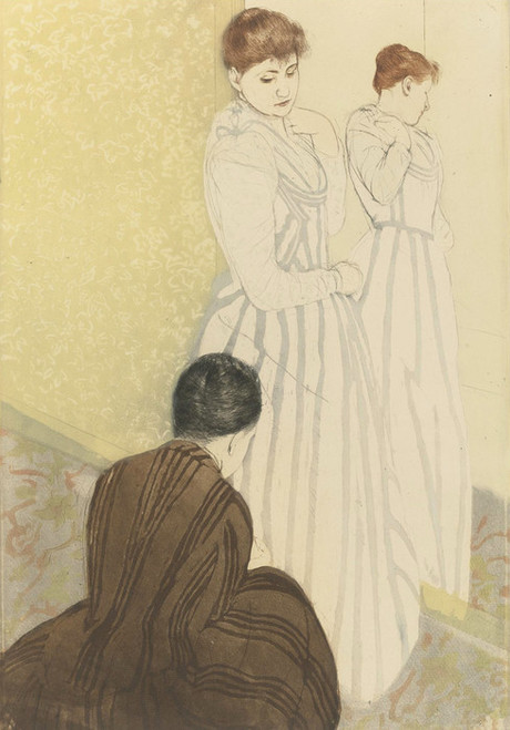 Art Prints of The Fitting by Mary Cassatt
