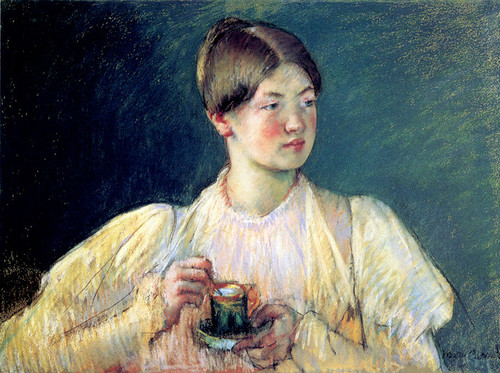 Art Prints of The Cup of Tea II by Mary Cassatt