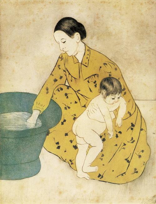 Art Prints of The Child's Bath II by Mary Cassatt