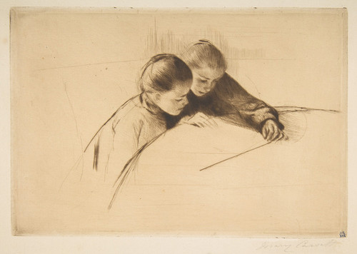 Art Prints of The Map by Mary Cassatt