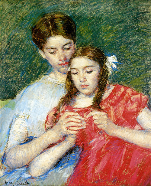 Art Prints of The Crochet Lesson by Mary Cassatt