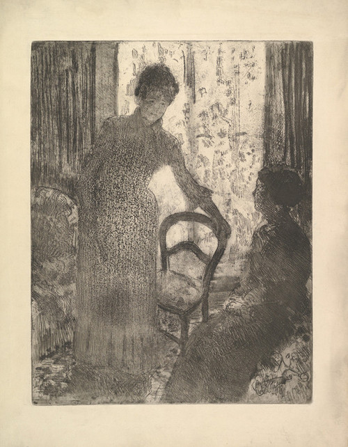 Art Prints of The Visitor by Mary Cassatt
