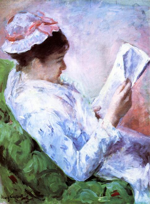 Art Prints of Woman Reading, Portrait of Lydia Cassatt by Mary Cassatt