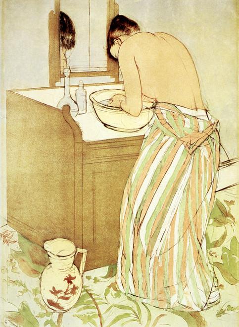 Art Prints of Woman Bathing, Third State by Mary Cassatt