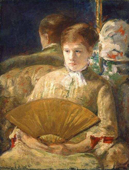 Art Prints of Woman with a Fan by Mary Cassatt