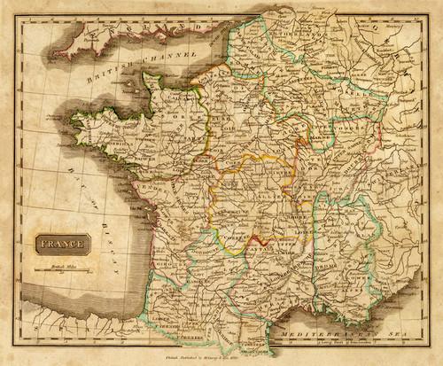 Art Prints of France, 1820 (2682006) by Mathew Carey