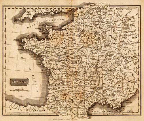 Art Prints of France, 1825 (0124006) by Mathew Carey