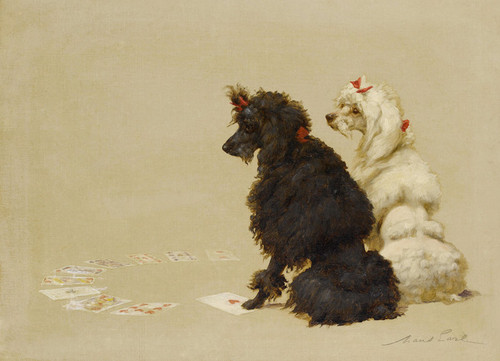 Art Prints of Poodles by Maud Earl