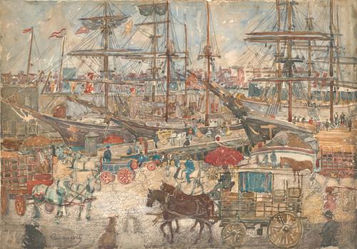 Art Prints of Docks East Boston by Maurice Prendergast
