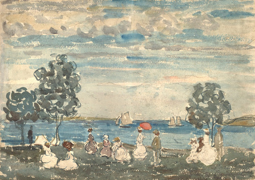 Art Prints of Figures on a Beach by Maurice Prendergast