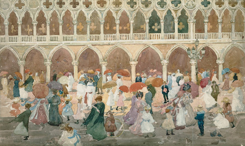 Art Prints of Sunlight on the Piazzetta by Maurice Prendergast