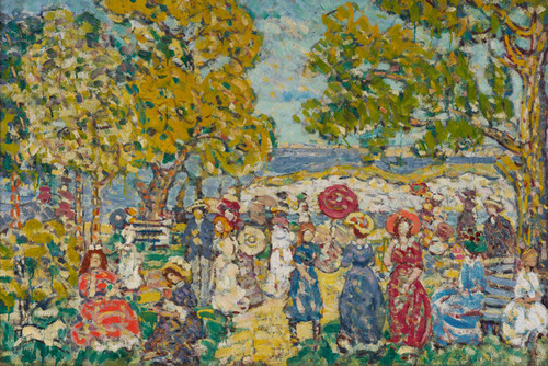 Art Prints of Landscape with Figures by Maurice Prendergast