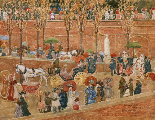 Art Prints of Pincian Hill, Rome by Maurice Prendergast