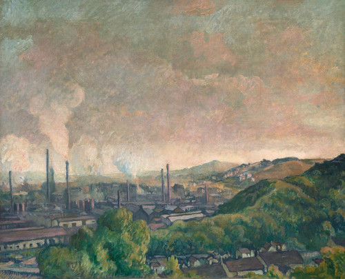 Art Prints of Charleroi Panorama by Maximilien Luce