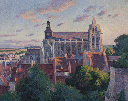 Art Prints of Cathedral at Gisors, View of the Ramparts by Maximilien Luce