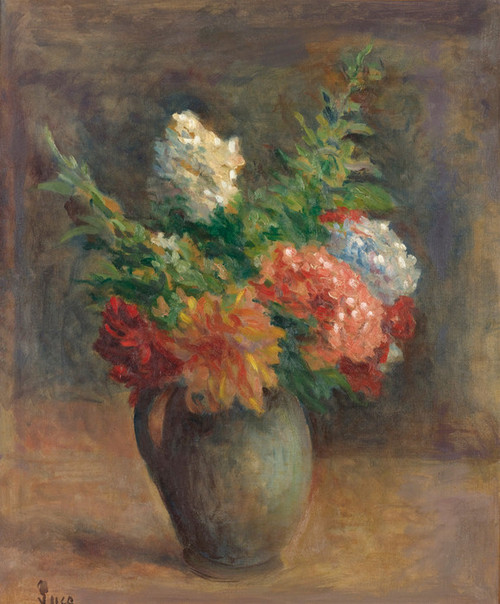 Art Prints of Geraniums and Lilacs by Maximilien Luce