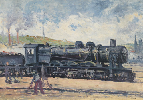 Art Prints of Locomotive near Charleroi by Maximilien Luce