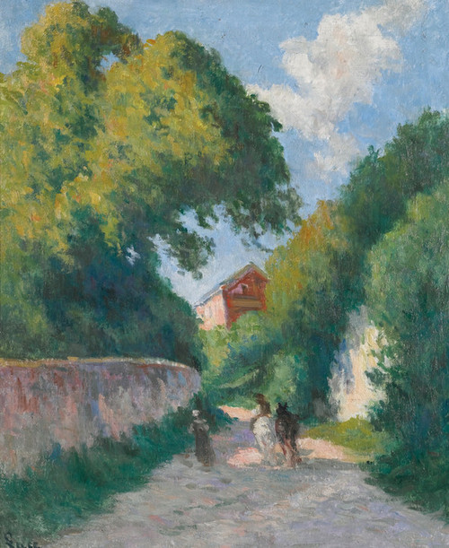 Art Prints of Rolleboise, Around the Back of the Farm by Maximilien Luce