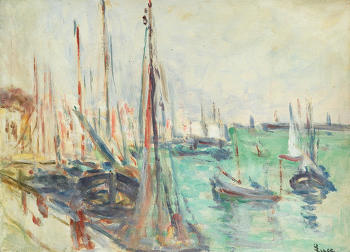 Art Prints of Ships in Port by Maximilien Luce