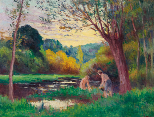 Art Prints of Swimmers, Lucy-Sur-Cure by Maximilien Luce