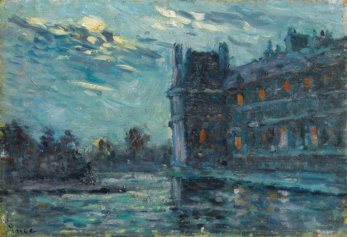 Art Prints of The Flood of 1910, Pavillon de Flore by Maximilien Luce