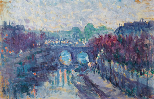 Art Prints of The New Bridge at the Small Arm of the Seine by Maximilien Luce