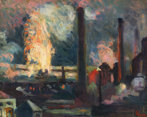 Art Prints of The Plant at Night by Maximilien Luce