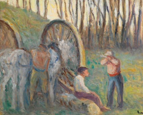 Art Prints of The Hitch and Loggers by Maximilien Luce