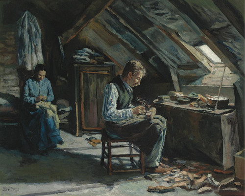 Art Prints of The Shoemaker by Maximilien Luce