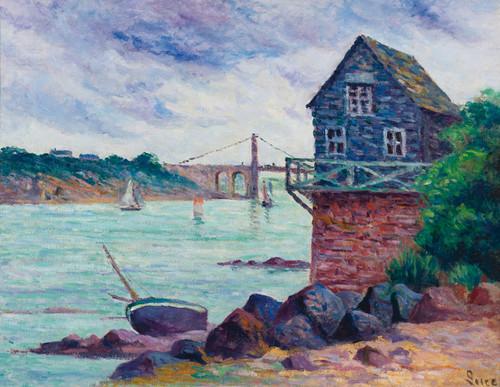 Art Prints of The Suspension Bridge, Lezardrieux by Maximilien Luce