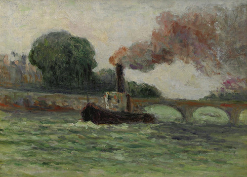 Art Prints of Tugboat on the Seine by Maximilien Luce