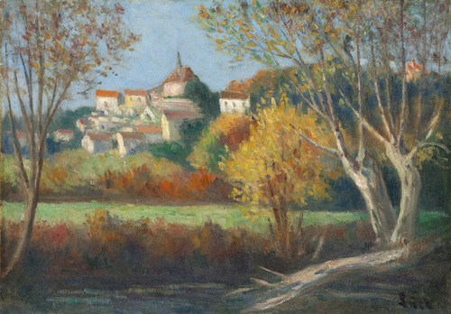 Art Prints of The Village of Rolleboise by Maximilien Luce