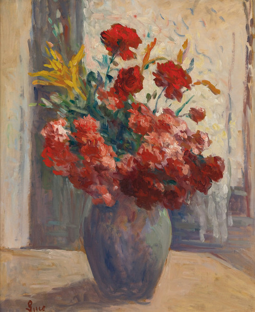 Art Prints of Vase of Flowers by Maximilien Luce