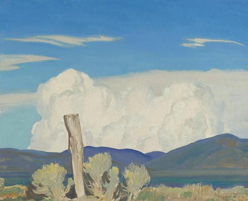 Art Prints of Approaching Thunderstorm by Maynard Dixon