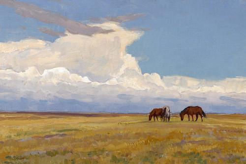 Art Prints of Clouds and Prairie by Maynard Dixon