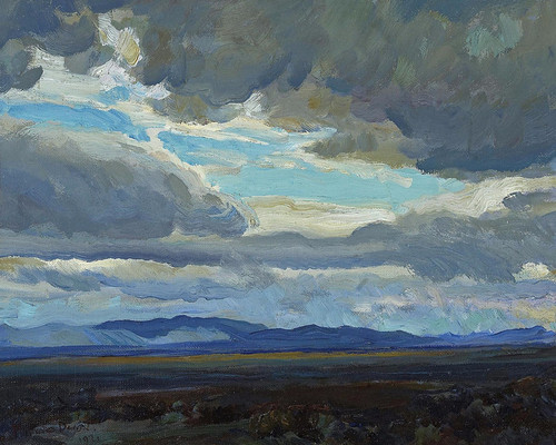 Art Prints of Approaching Storm, Coast Range, California by Maynard Dixon