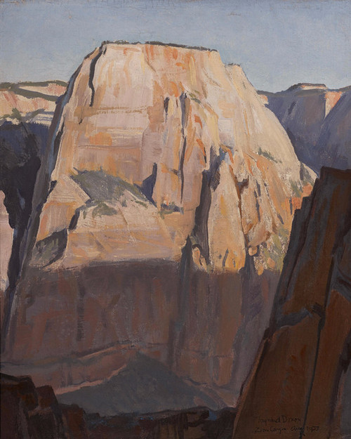 Art Prints of Great White Throne, Zion Canyon, Utah by Maynard Dixon