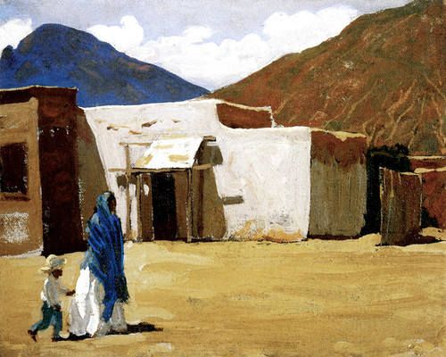 Art Prints of In Old Tucson by Maynard Dixon