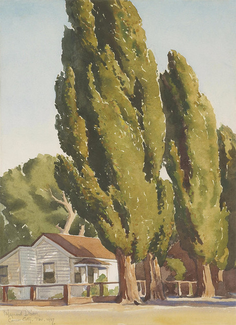 Art Prints of Poplars of Carson by Maynard Dixon