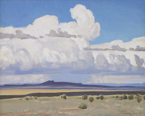 Art Prints of Summer Clouds, New Mexico by Maynard Dixon