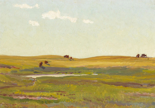 Art Prints of Sandhill Camp by Maynard Dixon