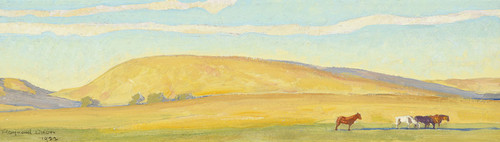 Art Prints of Golden Range, Study for a Mural, No. 2, 1922 by Maynard Dixon