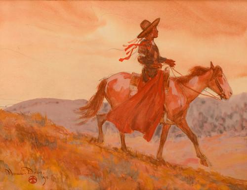 Art Prints of Flathead, Indian, Montana by Maynard Dixon