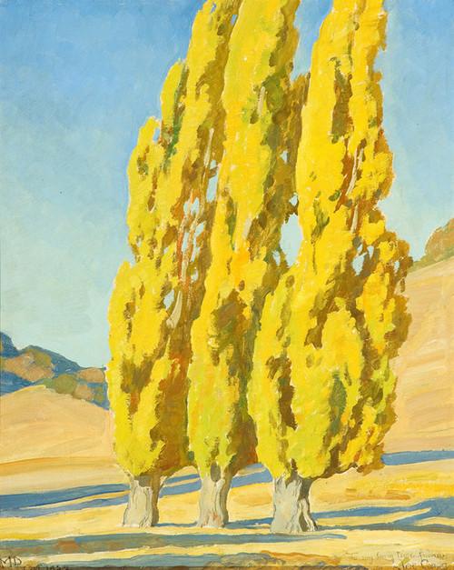 Art Prints of Autumnal Poplars by Maynard Dixon