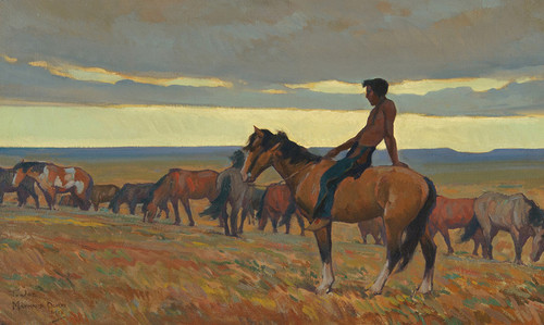 Art Prints of Lone Bull, 1918 by Maynard Dixon