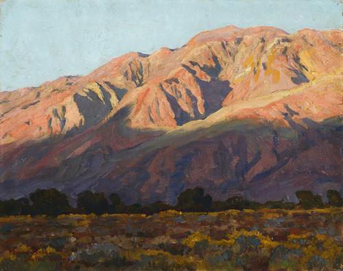 Art Prints of Inyo Range at Sunset, Lone Pine, 1919 by Maynard Dixon
