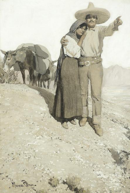 Art Prints of Mexican Man and Woman by Maynard Dixon